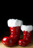 Red Santa boot Stock Photo