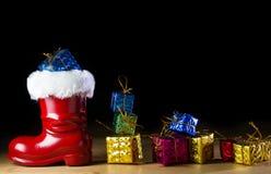 Red Santa boot Stock Photos