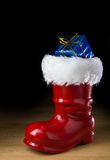 Red Santa boot Stock Image