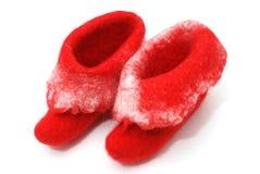 Red Santa boots Royalty Free Stock Image