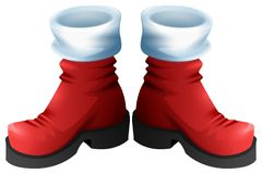 Red Santa boots symbol of accessory Christmas Stock Photography