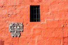 Red Santa Catalina Monastery Wall Royalty Free Stock Photo