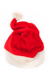 Red Santa Claus hat. Royalty Free Stock Photography