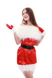 Red santa claus hat Royalty Free Stock Images