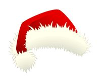 Red Santa Claus hat isolated Stock Photo