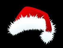 Red Santa Claus hat isolated Stock Images