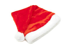 Red Santa Claus hat Stock Images