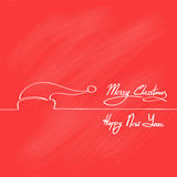 Red Santa Claus Hat Merry Christmas Happy New Year stock illustration