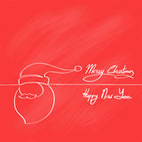 Red Santa Claus Hat Merry Christmas Happy New Year vector illustration