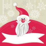 Red Santa Claus on snowflakes Stock Photos