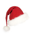 Red Santa hat. Red Christmas and santa hat with white fur Royalty Free Stock Photography