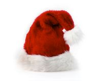 Red Santa Hat. On White with Copy Space royalty free stock photography