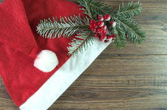 Red santa hat Royalty Free Stock Photography