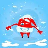 Red Santa Hat Christmas Cartoon Character Concept Stock Photo