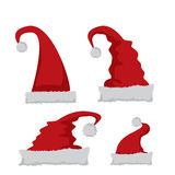 Red Santa hat icon  on white Royalty Free Stock Photo