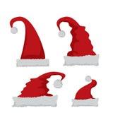 Red Santa hat icon  on white Royalty Free Stock Photo