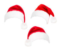 Red santa hats. Royalty Free Stock Photos
