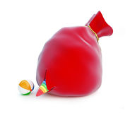 Red santa's bag toy Royalty Free Stock Photography