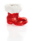 Red Santa's boot Royalty Free Stock Photos