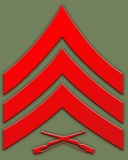 Red sargent insignia Royalty Free Stock Image