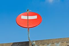 Red satellite dish Royalty Free Stock Images