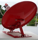 Red satellite dish Stock Photography