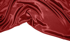 Red satin. Beautiful and smooth Red satin with copy space Royalty Free Stock Photography