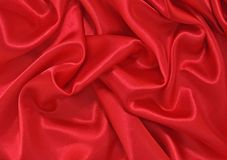 Red Satin Stock Image