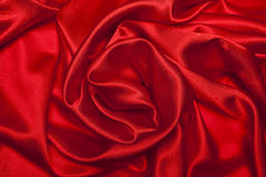 Red Satin. Sensuous Smooth Red Satin. background Royalty Free Stock Photo
