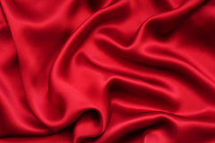 Red satin background Royalty Free Stock Images