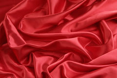 Red Satin Background -- Horizontal. Luxurious red satin background with wave effect Royalty Free Stock Images