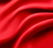 Red satin background. Vector. Royalty Free Stock Image