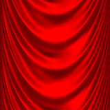 Red satin big drape 2 Royalty Free Stock Photography