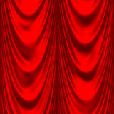 Red satin big drape Royalty Free Stock Photography
