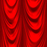 Red satin big drape Royalty Free Stock Images