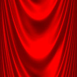 Red satin big drape Royalty Free Stock Photo
