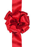 Red satin bow Royalty Free Stock Photo
