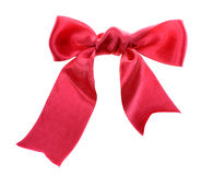 Red satin bow Stock Image