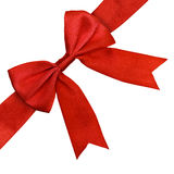 Red Satin Bow Isolated Clipping Path Royalty Free Stock Photo