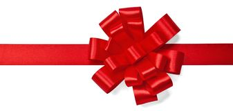 Red satin bow Stock Photography
