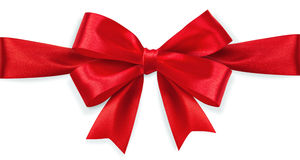 Red satin bow Royalty Free Stock Photos