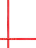 Red satin bow knot and ribbons on white - set 6 Royalty Free Stock Photo