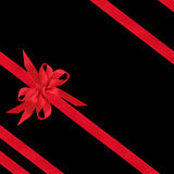 Red Satin Bow and Ribbons Royalty Free Stock Photos