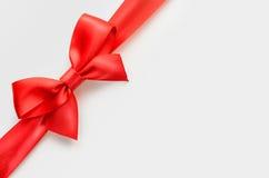 Red satin bow Stock Photos
