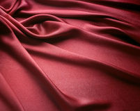 Red Satin Cloth Stock Photography