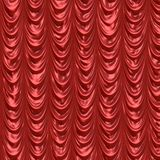 Red satin curtains Stock Photo