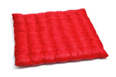 Red satin cushion Stock Photos
