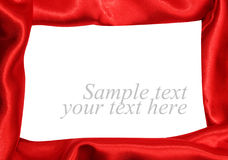 Red satin fabric Stock Photos