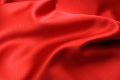 Red Satin Fabric Stock Photo