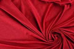 Red satin fabric Royalty Free Stock Image